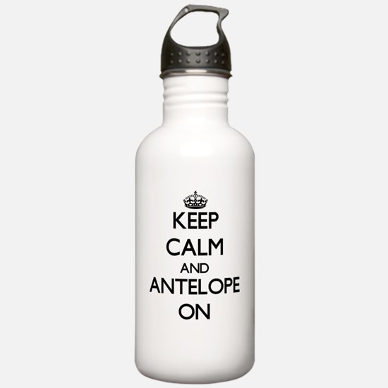 Keep Calm and Antelope Water Bottle