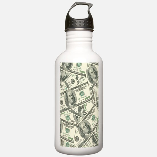 Cute Cash Sports Water Bottle
