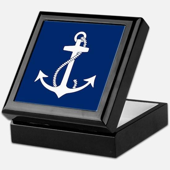 Cute Anchors Keepsake Box