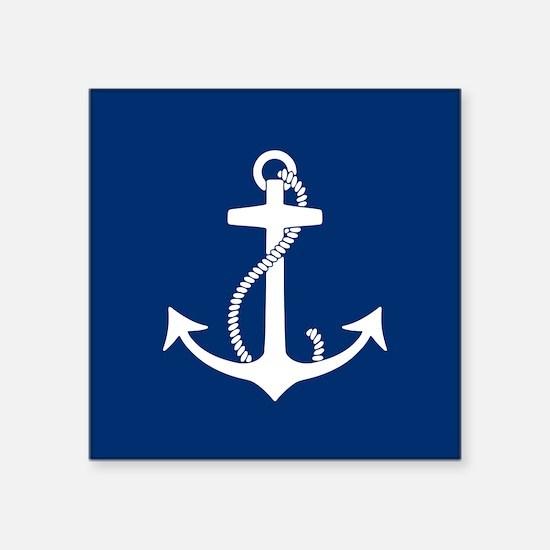 """Unique Anchors Square Sticker 3"""" x 3"""""""