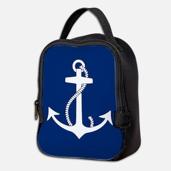 Cute Nautical Neoprene Lunch Bag