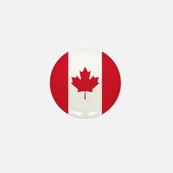 Cute Canada flag Mini Button