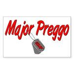 USAF Major Preggo Rectangle Sticker