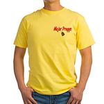 USAF Major Preggo Yellow T-Shirt