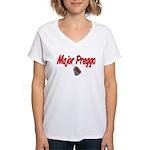 USAF Major Preggo Women's V-Neck T-Shirt