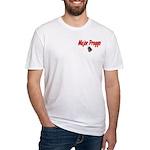 USAF Major Preggo Fitted T-Shirt
