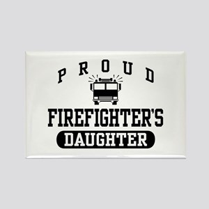 Proud Firefighter's Daughter Rectangle Magnet