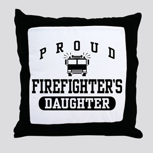 Proud Firefighter's Daughter Throw Pillow
