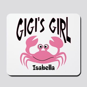 Pink Crab Gigis Girl Personalized Mousepad