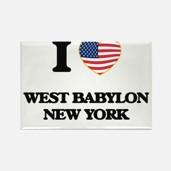 I love West Babylon New York Magnets