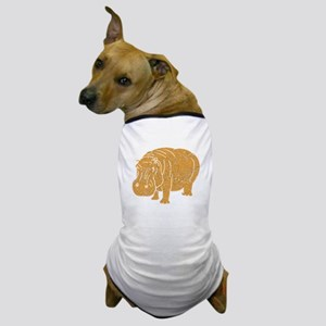 Distressed Brown Hippopotamus Dog T-Shirt