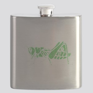 Distressed Green Grasshopper Flask
