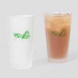 Distressed Green Grasshopper Drinking Glass