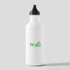 Distressed Green Grasshopper Water Bottle