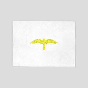 Distressed Yellow Hawk 5'x7'Area Rug