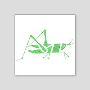 Distressed Green Grasshopper Sticker