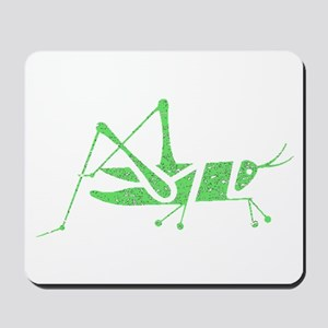 Distressed Green Grasshopper Mousepad