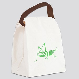 Distressed Green Grasshopper Canvas Lunch Bag