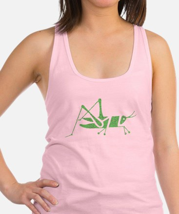 Distressed Green Grasshopper Racerback Tank Top