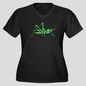 Distressed Green Grasshopper Plus Size T-Shirt
