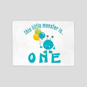 1st Monster Birthday 5'x7'Area Rug