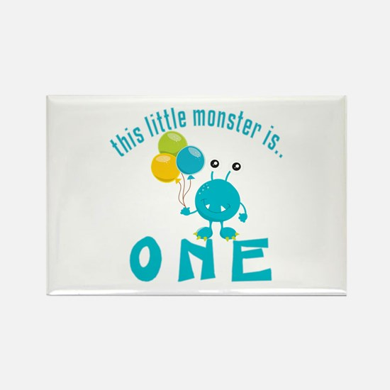 1st Monster Birthday Rectangle Magnet