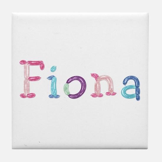 Fiona Princess Balloons Tile Coaster