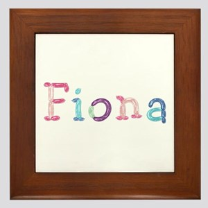 Fiona Princess Balloons Framed Tile