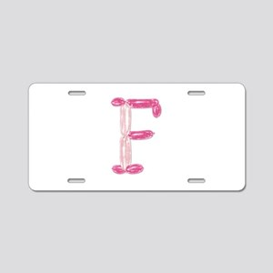F Princess Balloons Aluminum License Plate