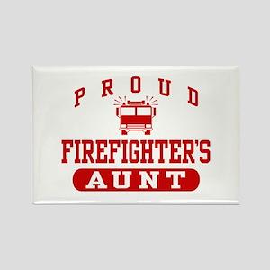 Proud Firefighter's Aunt Rectangle Magnet