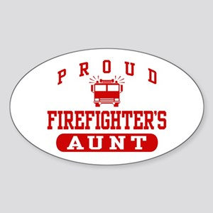 Proud Firefighter's Aunt Oval Sticker