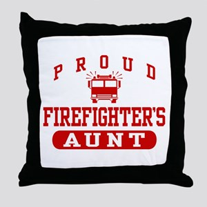 Proud Firefighter's Aunt Throw Pillow