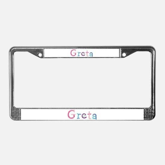 Greta Princess Balloons License Plate Frame