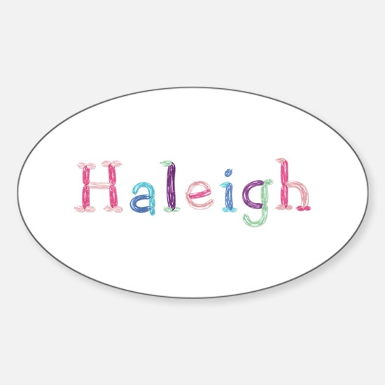 Haleigh Princess Balloons Oval Decal