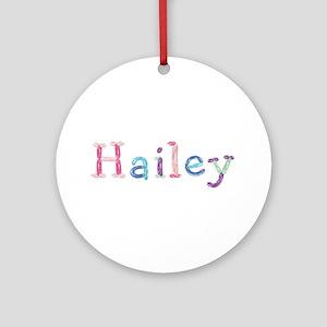 Hailey Princess Balloons Round Ornament