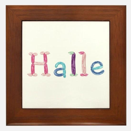 Halle Princess Balloons Framed Tile
