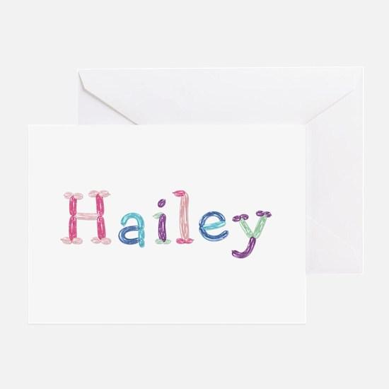 Hailey Princess Balloons Greeting Card