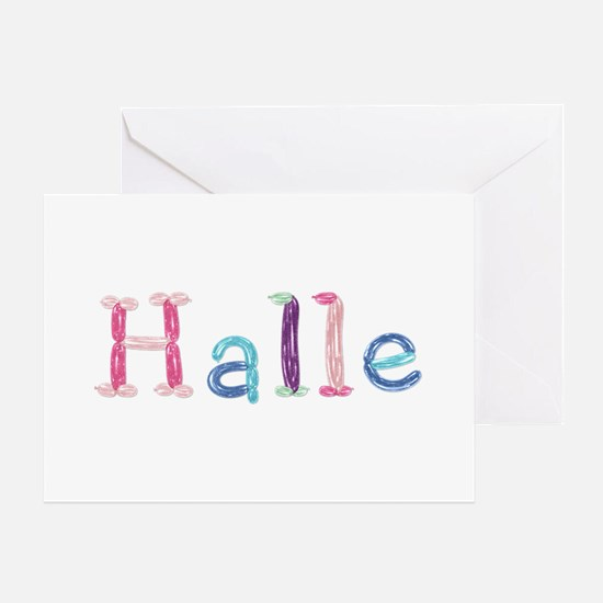 Halle Princess Balloons Greeting Card
