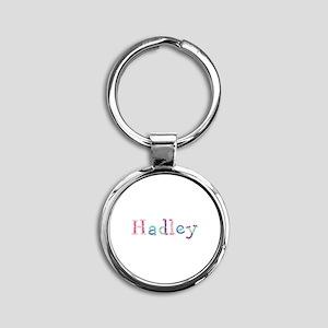 Hadley Princess Balloons Round Keychain