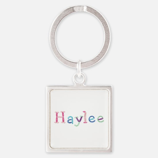 Haylee Princess Balloons Square Keychain