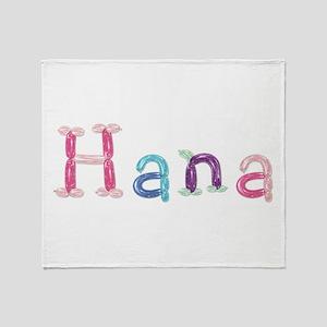 Hana Princess Balloons Throw Blanket