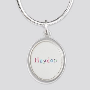 Hayden Princess Balloons Silver Oval Necklace