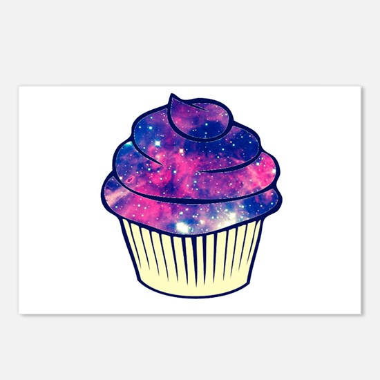 Galaxy Cupcake Postcards (package Of 8)