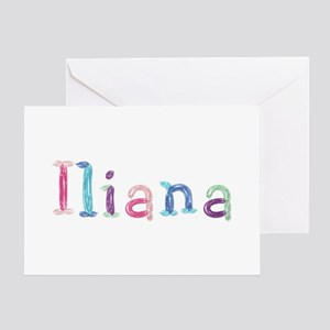Iliana Princess Balloons Greeting Card