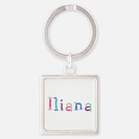 Iliana Princess Balloons Square Keychain