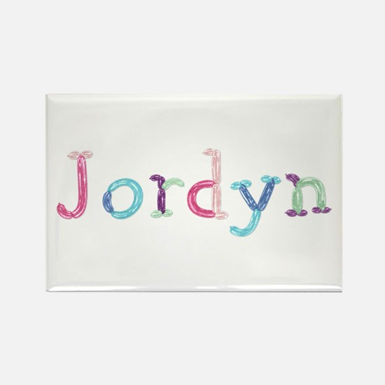 Jordyn Princess Balloons Rectangle Magnet