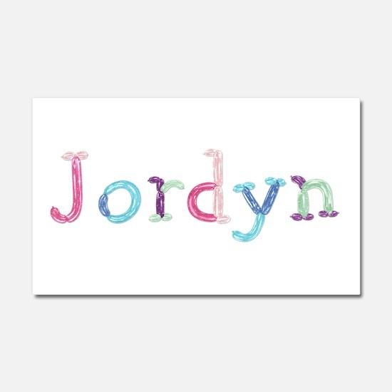 Jordyn Princess Balloons 20x12 Car Magnet