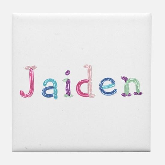 Jaiden Princess Balloons Tile Coaster