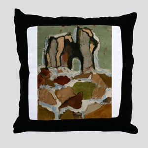 Collage Ruine Throw Pillow