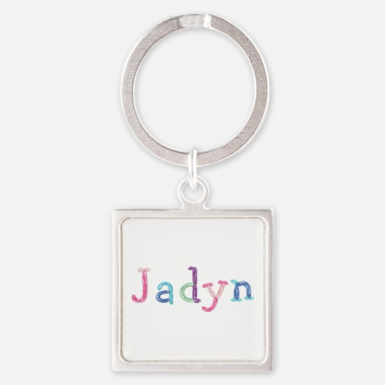 Jadyn Princess Balloons Square Keychain